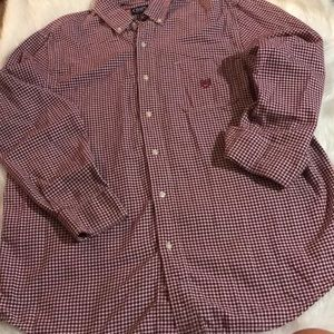 Chaps Long-sleeved Button Down Plaid Shirt